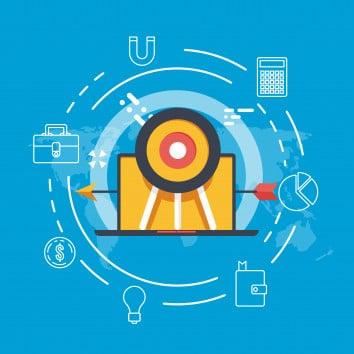 Target World Map Target Advertising Banner Digital Marketing Bus