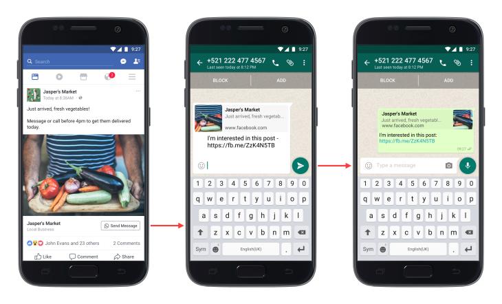 Facebook click to whatsapp ads dubai
