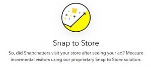 Snap to store snapchat marketing