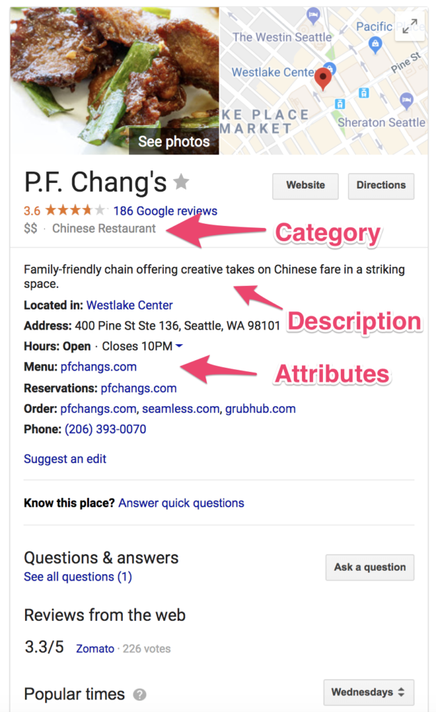 directions to pf changs